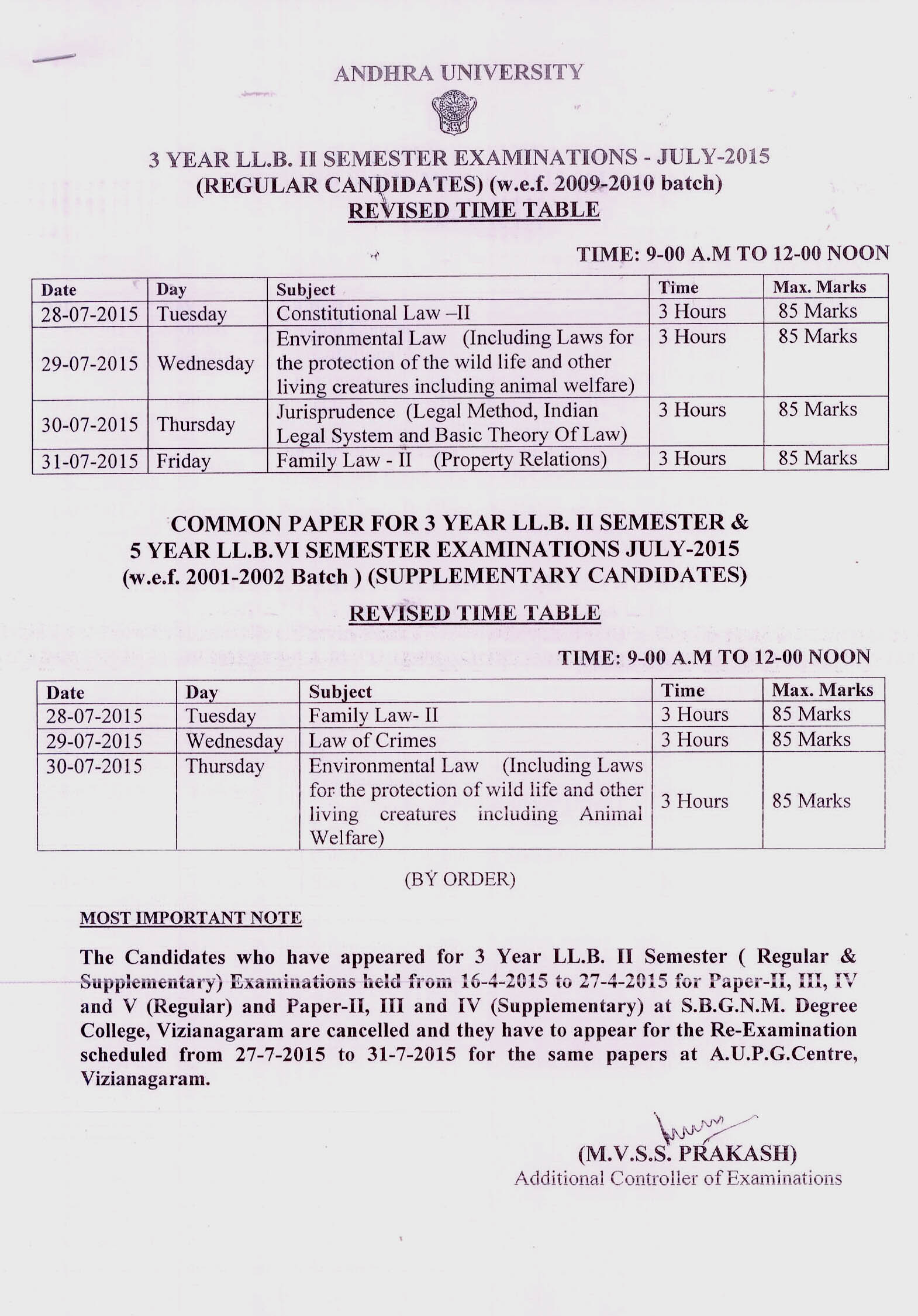 Andhra university exam time tables 2018 for Gtu time table 4 th sem